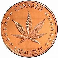 Buy Copper 1 oz Cannabis new coin