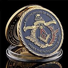 Buy United States A brotherhood of Man uncirc. golden new coin #1