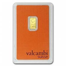 Buy VALCAMBI SUISSE GOLD 1 GRAM 999.9 FINE BAR CHI ESSAYEUR FONDEUR IN COA CARD