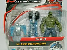 "Buy New Marvel Avengers Age Of Ultron Hulk Vs. Sub-Ultron 003 -2.5"" Figure Set"