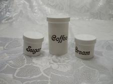 Buy 3 Pc Picnic Coffee Sugar And Cream Containers