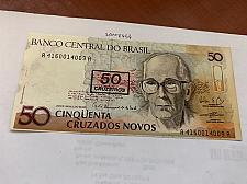 Buy Brazil 50 crusados uncirc. banknote 1990