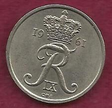 Buy DENMARK 25 Ore 1961 Coin - (Danmark) King Frederik IX