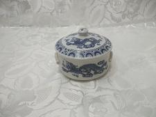 Buy Blue / White Dragon Motifs Candy Dish With Lid