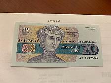 Buy Bulgaria 20 leva uncirc. banknote 1991 #2