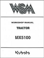 Buy Kubota MX5100 Tractor WSM Service Workshop Manual CD