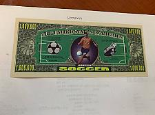 Buy United States $1 million Soccer uncirc. banknote 2002