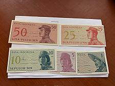 Buy Indonesia lot of 5 uncirc. banknotes 1964
