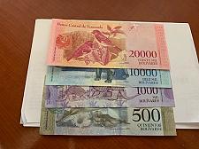 Buy Venezuela lot of 4 uncirc. bolivares banknotes 2017