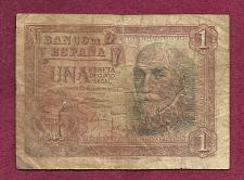 Buy SPAIN 1 Peseta 1953 Banknote 1E0434348 - MARQUIS SANTA CRUZ ALVARO DE BAZAN P-144