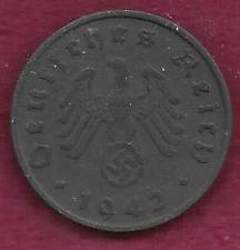 Buy GERMANY 10 Pfennig 1942 G Coin - WWII 3rd Reich (Al-Br) - Historic WWII Currency