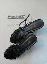 Buy Black - Woman's Summer 3'.5 Heeled Sandals - Brand; Life Stride - Size 9M