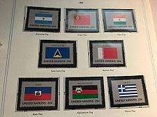 Buy United Nations New York Flags 8v mnh 1987