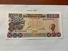 Buy Guinea 100 francs uncirc. banknote 1998