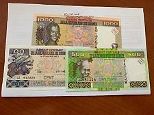Buy Guinea Lot of 3 uncirc. banknotes