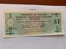 Buy Argentina 1 austral uncirc. banknote 1991 #1