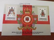 Buy Gibraltar Regiment s/s 1989 mnh stamps