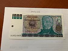 Buy Argentina 1 mil pesos uncirc. banknote 1985