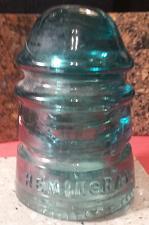 Buy Vintage HEMINGRAY Aqua Glass Insulator No. 12 - Patent May 2 1893 - Nice Find !!