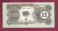 Buy BIAFRA 1 Pound 1968 (ND) Banknote DT0261464 UNC P5 Country existed only 3 Years!