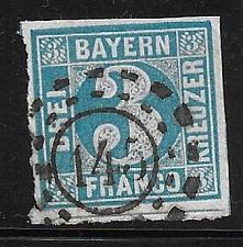 Buy Bavaria 1849 Used Scott #2 2021SCV$3.50 11825 Broken Circle
