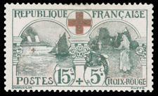Buy France B11 (Yves 156) 1918 Hospital Ship Issue VF MNH Scv $250 11164