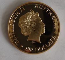 Buy Australia 100 dollars Kangaroo souvenir uncirc. coin new