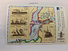 Buy Finland Ships s/s 1986 mnh stamps
