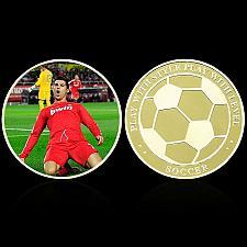Buy Italy beautiful golden Ronaldo soccer souvenir coin new