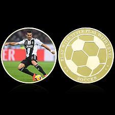 Buy Italy beautiful golden Ronaldo soccer souvenir coin new #2