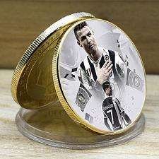 Buy Italy beautiful golden Ronaldo soccer souvenir coin new #3