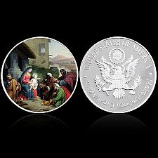 Buy United States beautiful silverade Christian Art Jesus souvenir coin new #1