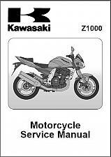 Buy 2003-2004-2005-2006 Kawasaki Z1000 Service & Parts Manual on a CD
