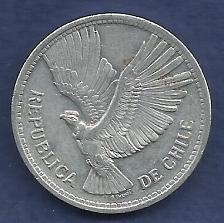 Buy CHILI 10 Pesos (Un Condor) 1957 Coin - Condor in Flight (AL) KM#181