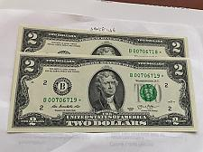 Buy United States Jefferson $2 uncirc. banknote 2013 #25a star * Consecutive Notes