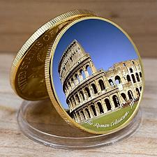 Buy United States Wonders of World the Colosseum golden souvenir coin