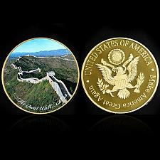 Buy United States Wonders of World The great wall golden souvenir coin
