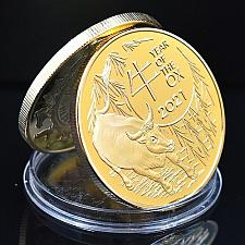 Buy United States Year of the Ox golden uncirc. souvenir coin 2021