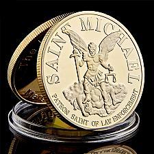 Buy Fantastic Saint Mitcael The Archangel with prayer uncirc. souvenir coin