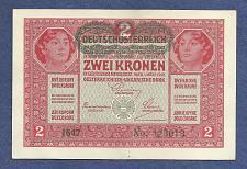 Buy AUSTRIA HUNGARY 2 KRONEN KORONA 1917 BANKNOTE 123013 Overprint DEUTSCHOSTERREICH P50