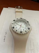 Buy Large white plastic quartz wrist watch new