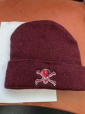 Buy Skull cotton burgundy hat new