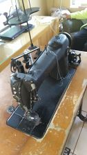 Buy 1926 Industrial Singer Sewing Machine 241-12 table w/ new motor and belt, w/ parts