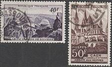 Buy [FR0673] France: Sc. no. 673-674 (1951) Used Complete Set