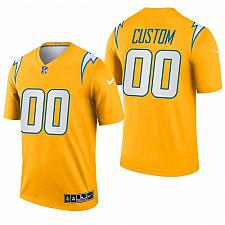 Buy Men's Los Angeles Chargers Custom 2021 Inverted Gold Jersey