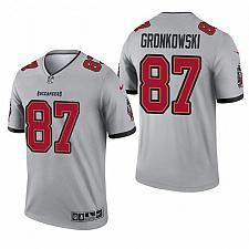 Buy Men's Tampa Bay Buccaneers Rob Gronkowski Gray 2021 Inverted Jersey