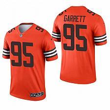 Buy Men's Cleveland Browns Myles Garrett 2021 Inverted Orange Jersey