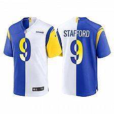 Buy Men's Los Angeles Rams Matthew Stafford Split Royal White Jersey