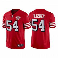 Buy Men's 49ers Fred Warner 75th Anniversary Red Throwback Jersey