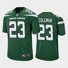 Buy Men's New York Jets Tevin Coleman Green Limited Jersey
